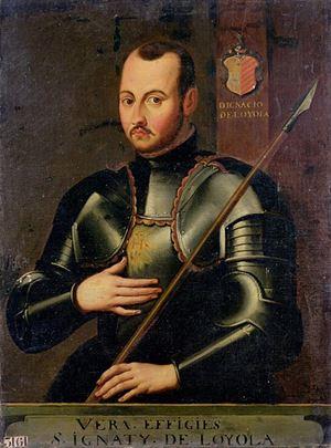 Il giovane Íñigo in abiti militari