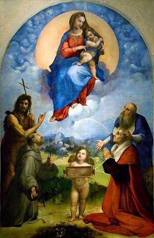 Raffaello, Madonna di Foligno (Pinacoteca Vaticana). L'opera d'arte scelta da Barbara Jatta per rappresentare la Bellezza