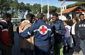 Controlli sanitari sugli immigrati a Treviso.