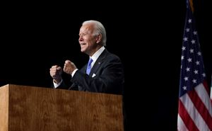 Il candidato democratico Joe Biden (foto Reuters).