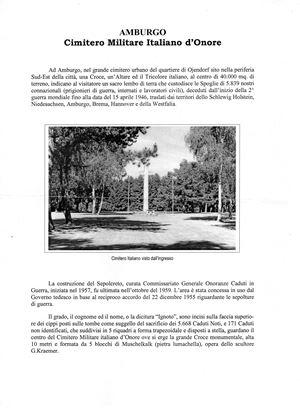Un testo che ricorda il cimitero di Amburgo