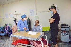 Reparto Covid in un ospedale a Baghdad.