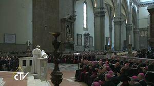 Alcuni momenti della partecipazione di papa Francesco al Convegno ecclesiale nazionale di Firenze, il 10 novembre 2015. Dal sito ufficiale dell'evento: http://www.firenze2015.it/.