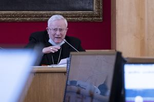 Il cardinale Gualtiero Bassetti, 78 anni, presidente della Conferenza episcopale italiana (Cei) martedì 26 gennaio 2021.
