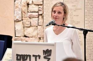 Gioia Bartali a Gerusalemme nel maggio 2018 riceve la cittadinanza onoraria per il nonno alla vigilia del Giro d'Italia