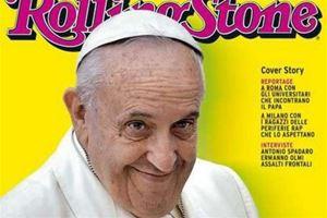 La copertina dell'edizione italiana di Rolling Stone dedicata a papa Francesco nel 2017