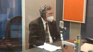 Paolo Ruffini, 64 anni, prefetto del Dicastero per la comunicazione della Santa Sede, in studio per i 90 anni della Radio Vaticana. Foto Vatican News.