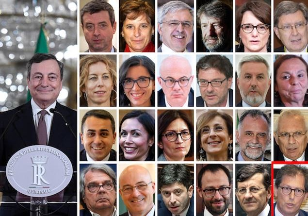 Governo Draghi, 15 ministri politici: ecco quote partiti
