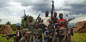 Un gruppo di ribelli nel Nord Kivu (Repubblica Democratica del Congo).