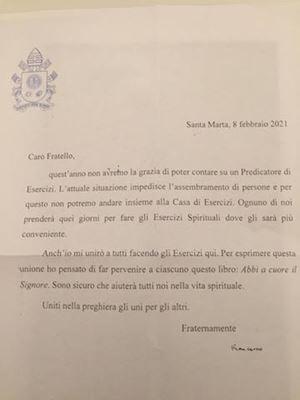 La lettera di papa Francesco inviata ai cardinali e vescovi della Curia Romana