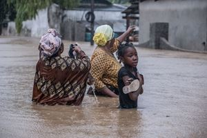 L'alluvione provocata a Pemba, in Mozambico, dal ciclone Kenneth (Credit Oxfam-Tommy Trenchard).