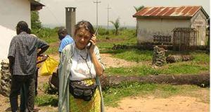 La dottoressa Chiara Castellani a Kenge, in RD Congo.
