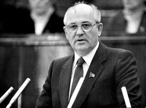 Gorbaciov a Stoccolma nel 1990, alla cerimonia del Nobel per la pace.