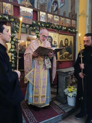 Il protopresbitero Iossìf Restagno, 53 anni, torinese, sacerdote greco-ortodosso.