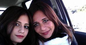 Giordana con la mamma Vera