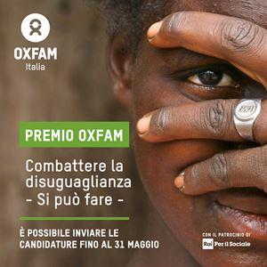 """La locandina del Premio """"Combattere le disuguaglianze - Si può fare"""". In copertina: povertà estrema in Etiopia (Foto di Abiy Getahun/Oxfam)."""