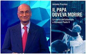 Antonio Preziosi, 54 anni, direttore di Rai Parlamento e la cover del libro