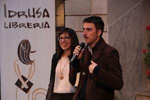 Il direttore artistico del Festival, lo scrittore Mario Desiati, con Michela Santoro della Libreria Idrusa