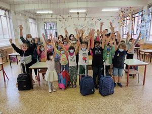 Una delle classi coinvolte nell'evento, della scuola G. da Bussero di Milano