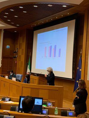 L'intervento di Maria Gabriella Carnieri Moscatelli, Presidente dell'Associazione nazionale Telefono Rosa a Montecitorio